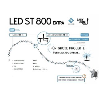 LED ST 800 W-WF   Kabelfarbe: weiß   Lichterkette --> Led Pro 230V