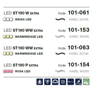 LED ST 190 W   Kabelfarbe: schwarz   Lichterkette --> Led Pro 230V